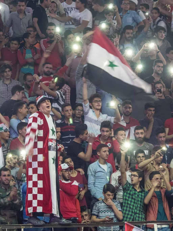 Syrian football fans
