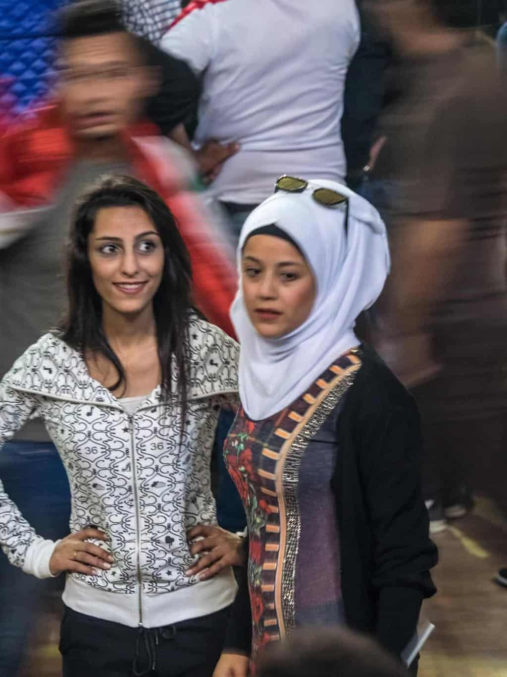 Local girls in Aleppo Syria