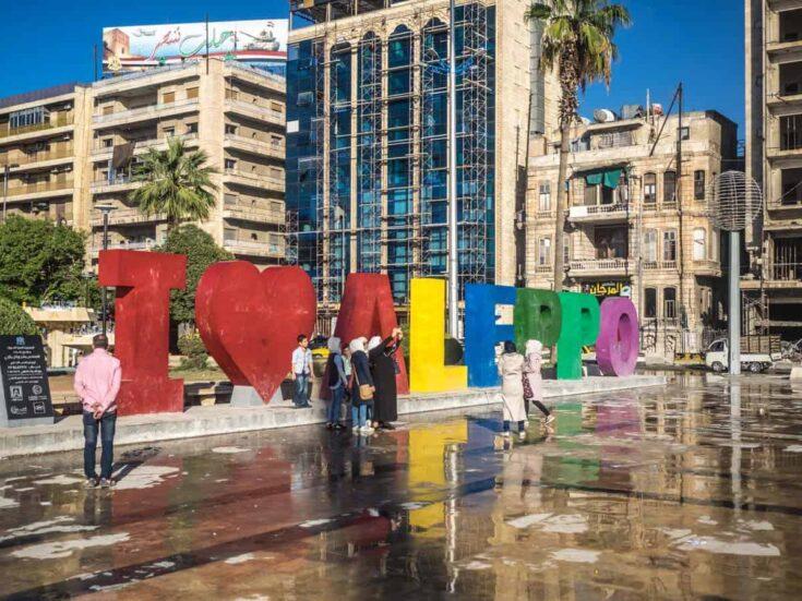 Aleppo syria sign