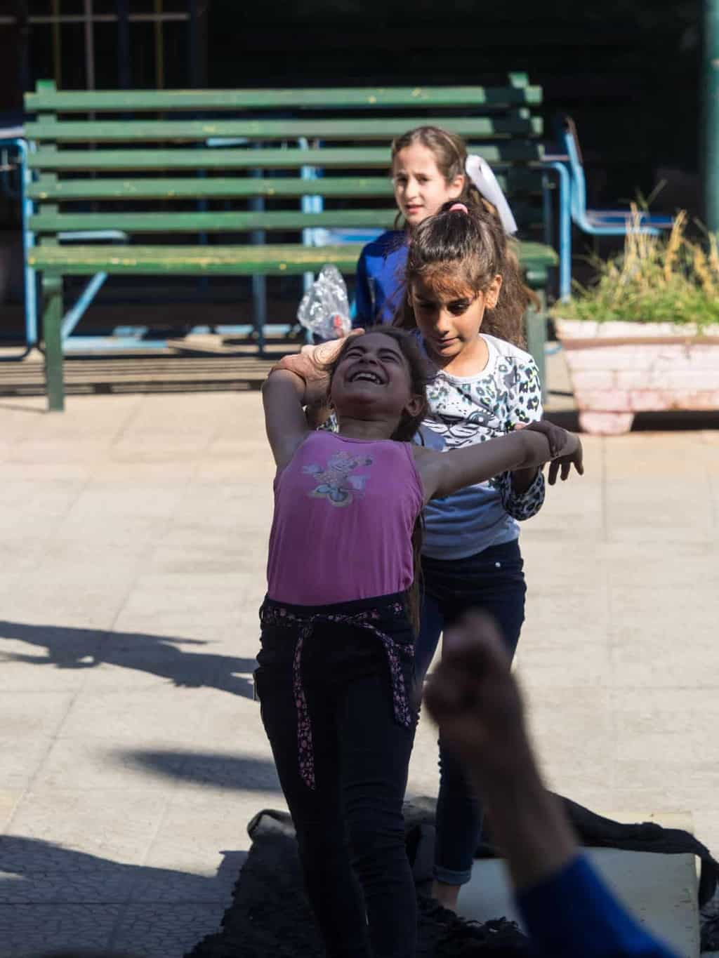 young girls in Aleppo