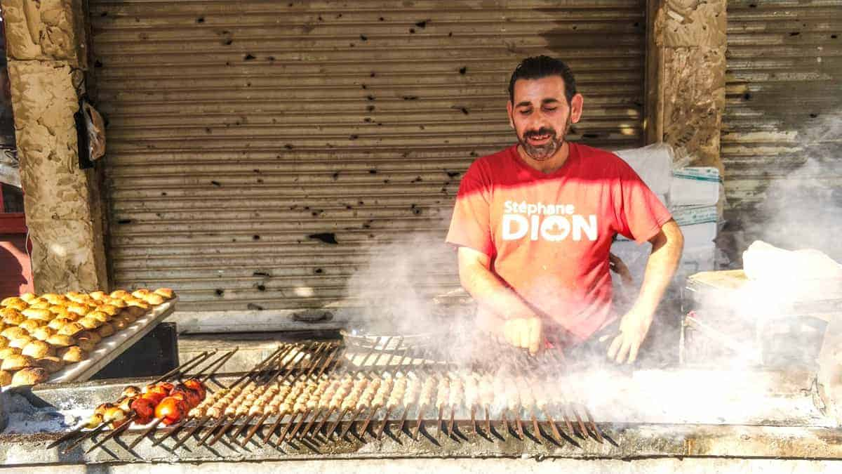 bbq on the street in Homs Syria