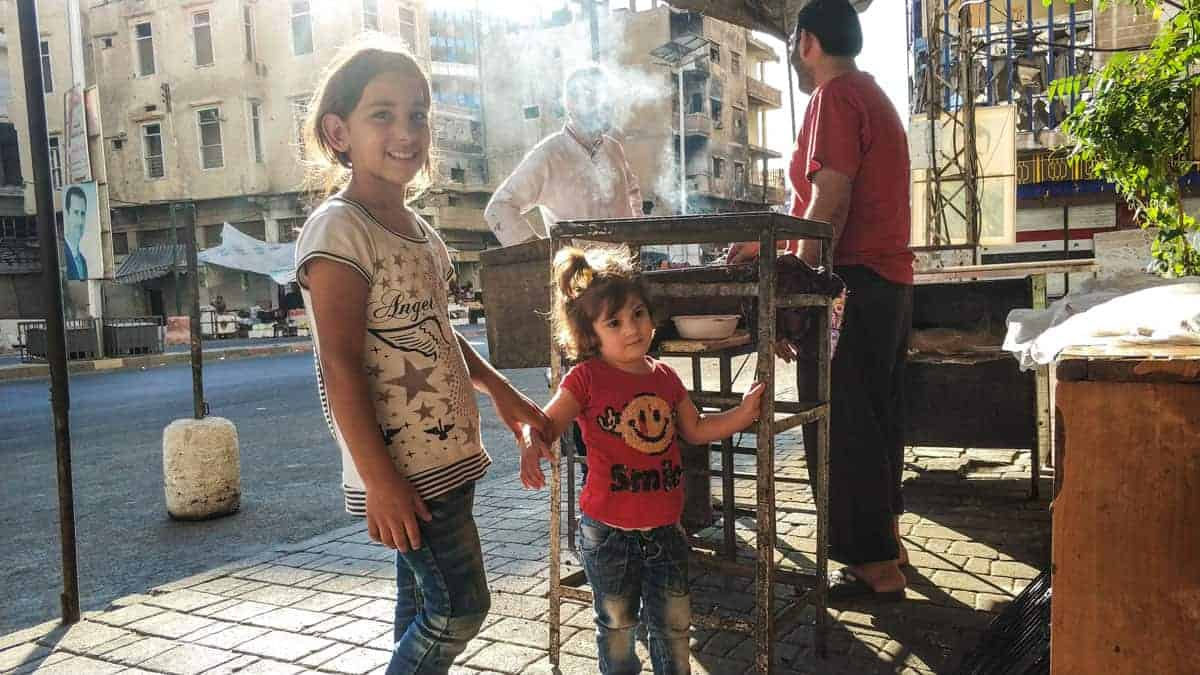 local kids in Syria