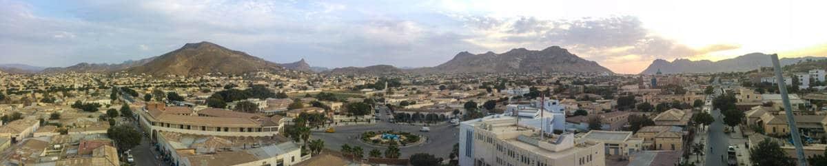 view over Keren in Eritrea