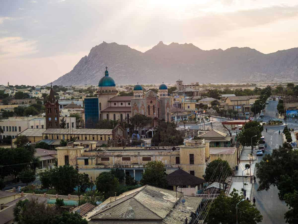 Keren city view in Eritrea