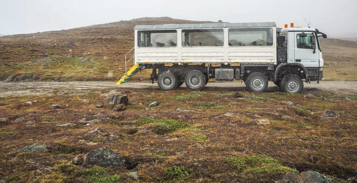 Greenland bus traveling