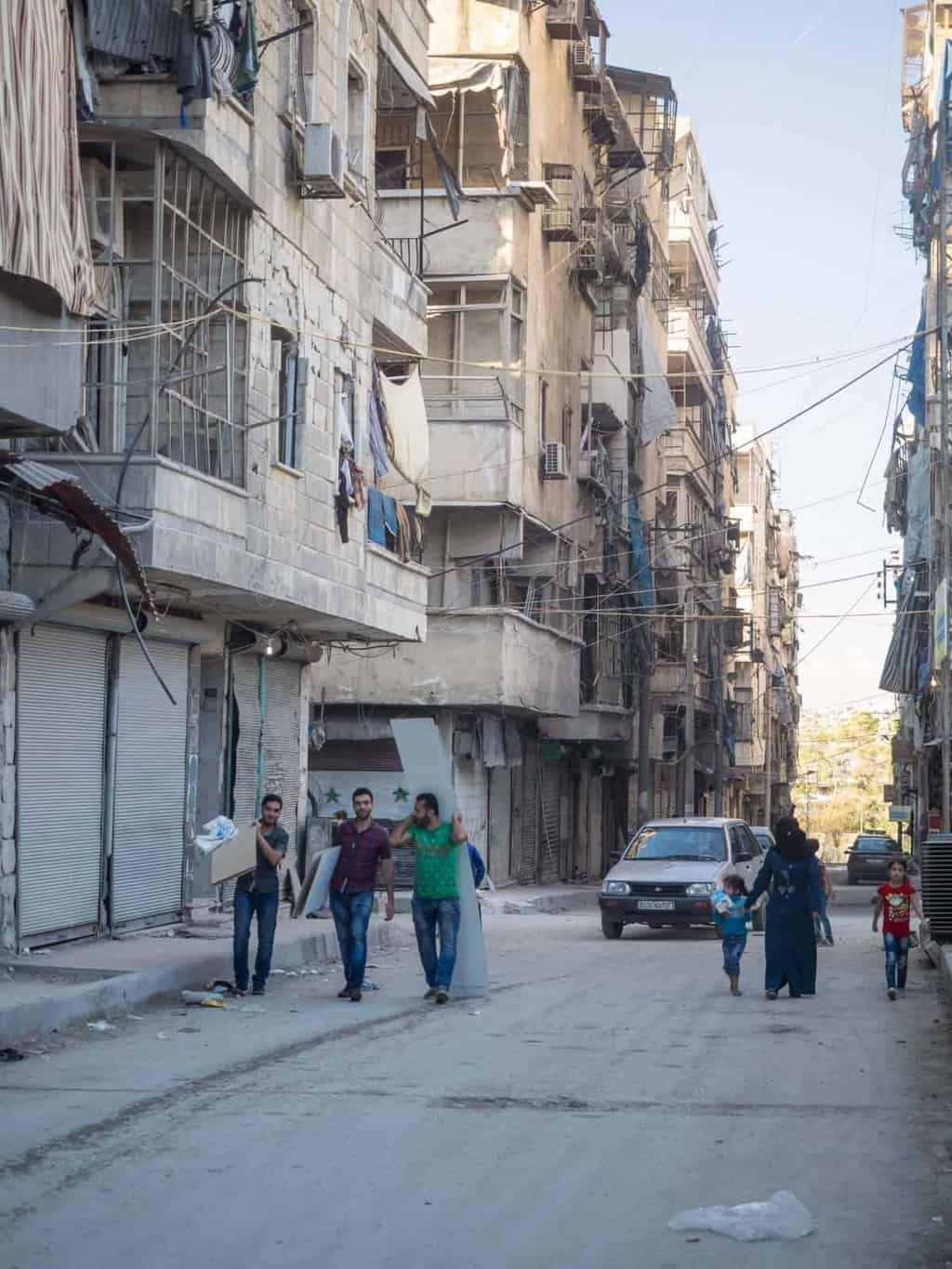 Locals rebuilt east part of Aleppo in Syria