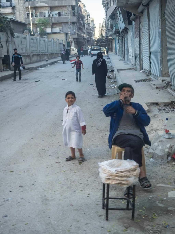 Locals in Aleppo Syria