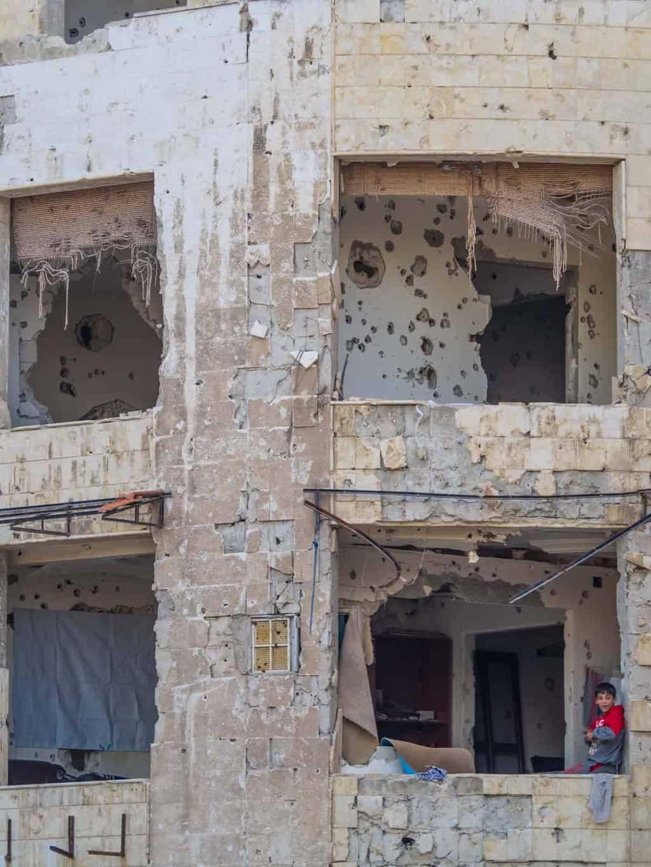 Syrian war destruction in homs