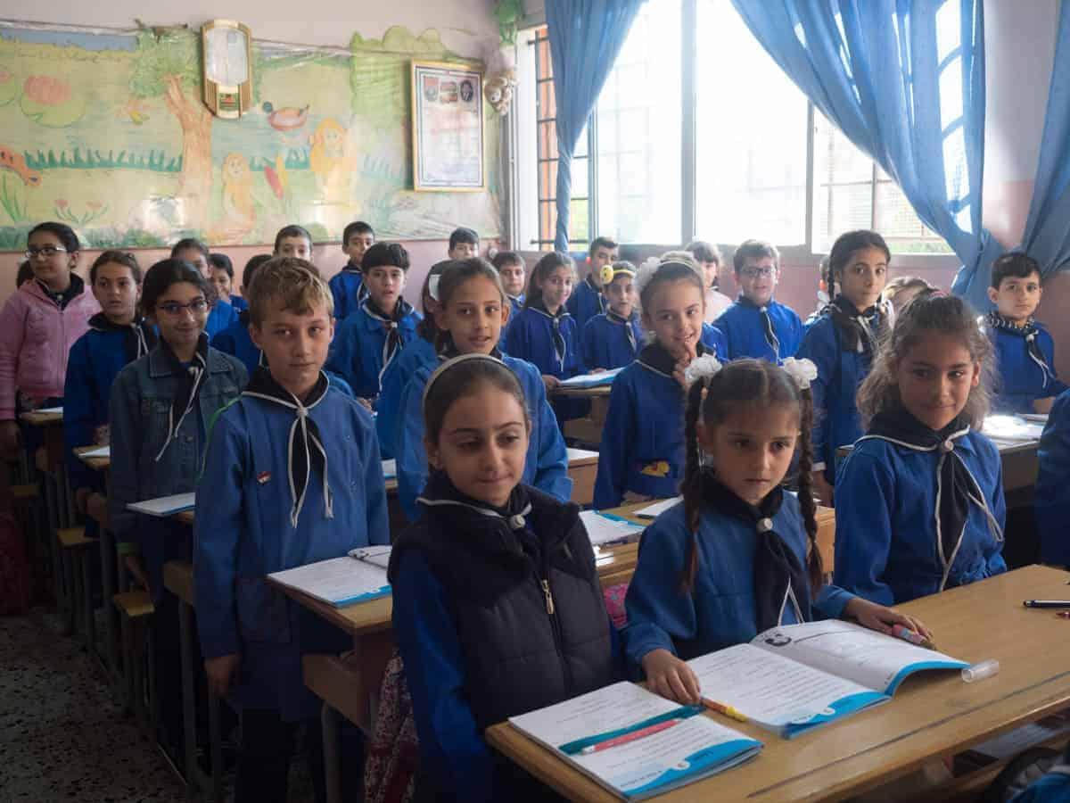 school children in Homs syria