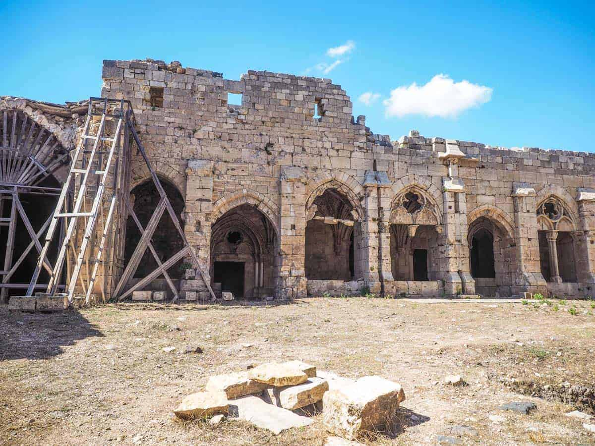 inside Krak des Chevaliers after syrian war