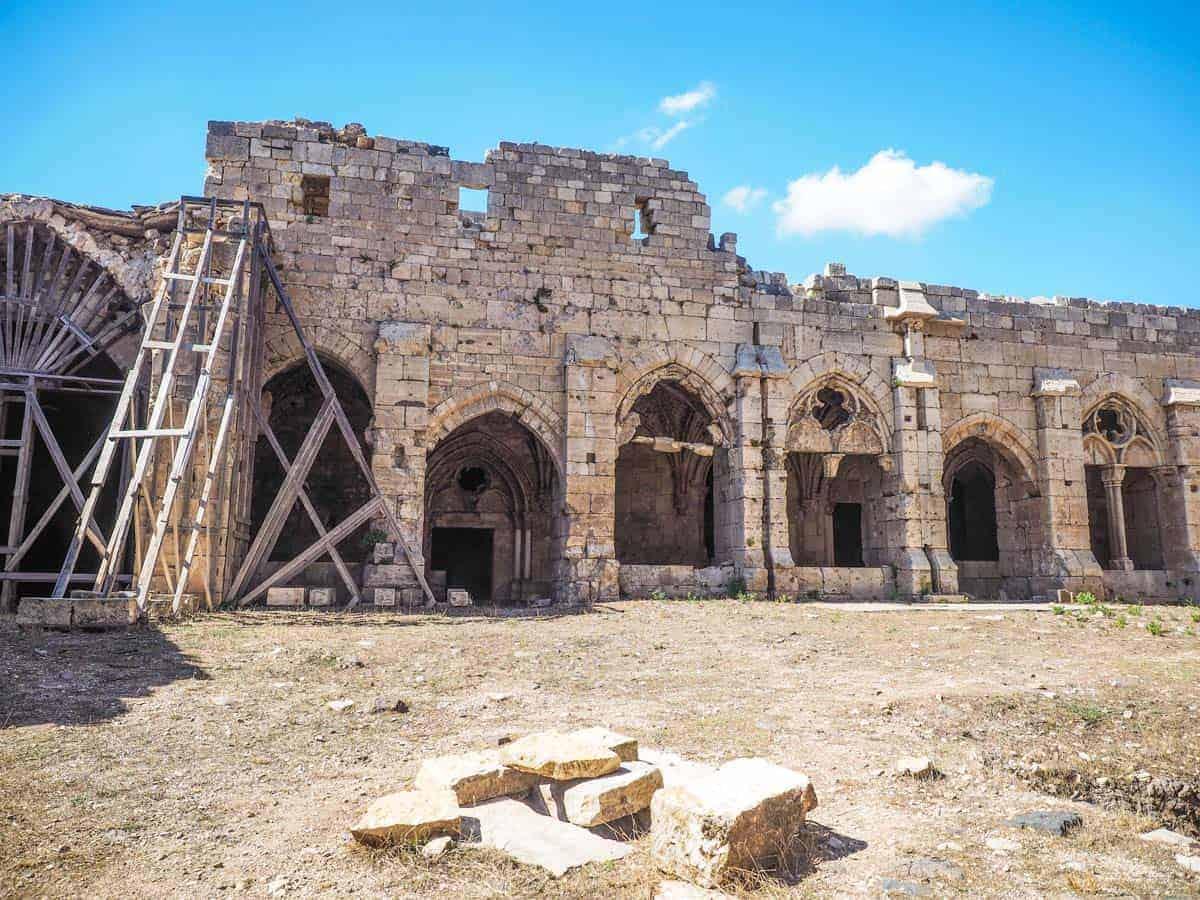 inside Krak des Chevaliers after syrian war