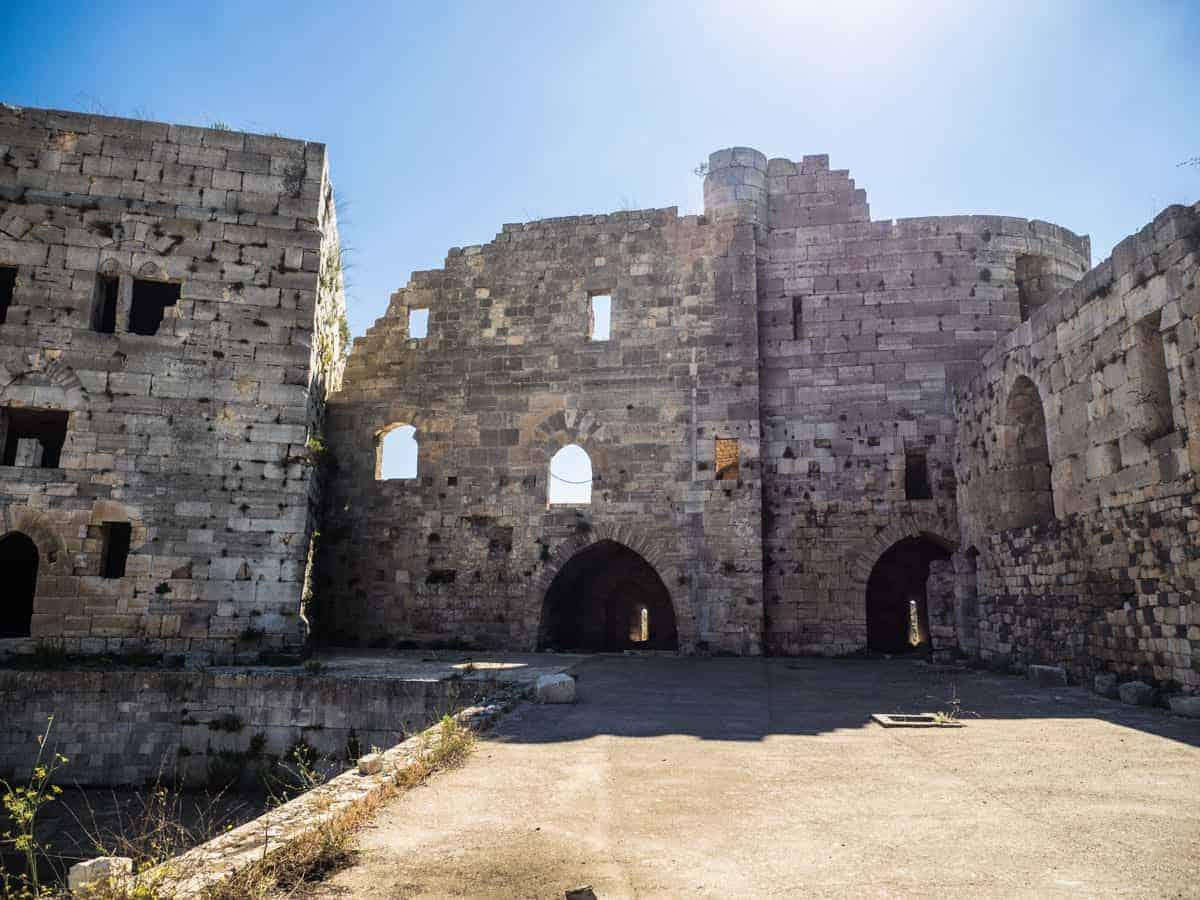 inside Krak des Chevaliers crusader castle