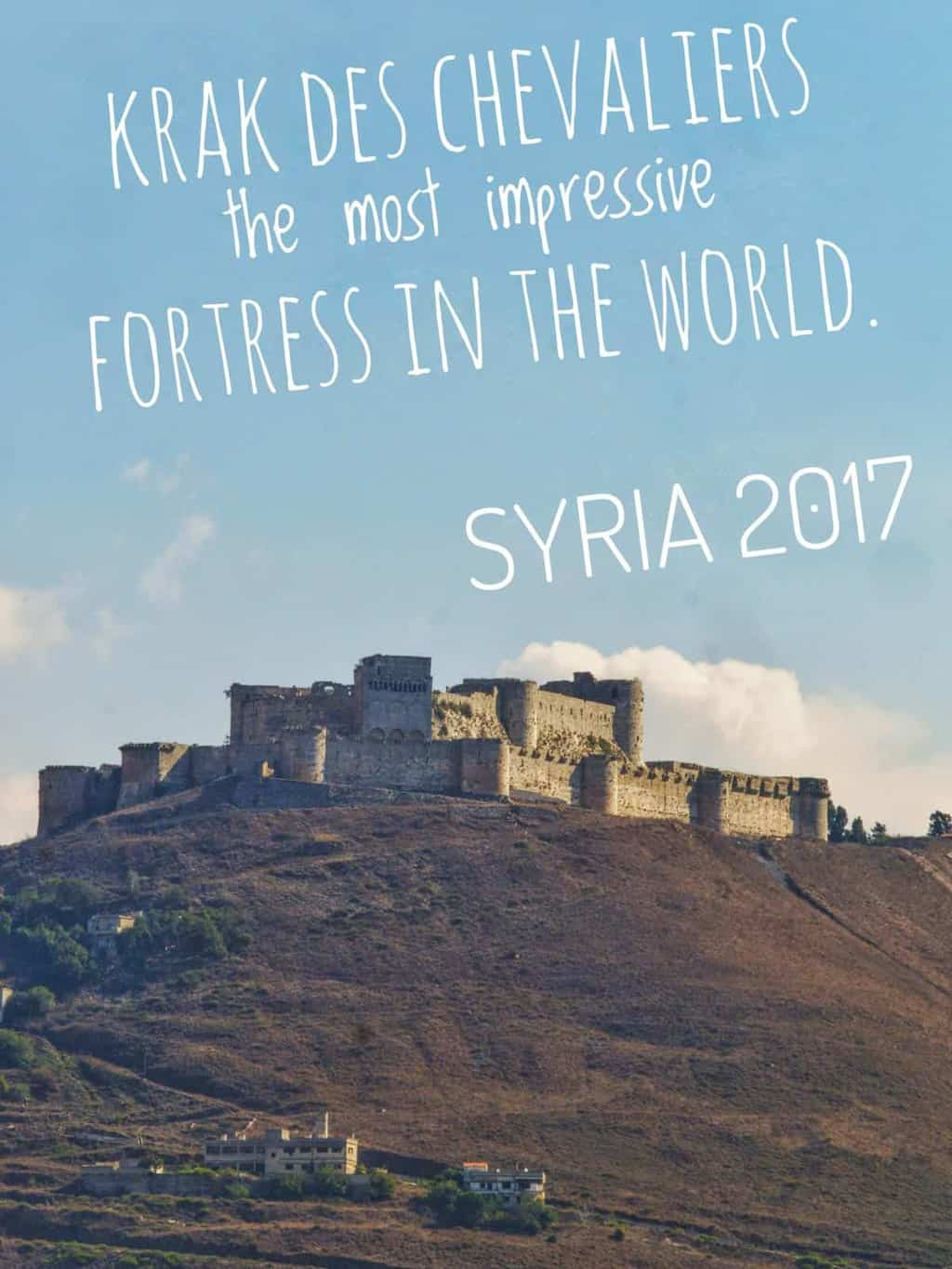 Krak des Chevaliers in the Homs province in Syria is probably the most important and best preserved medieval castles in the world. It was built during thefirst Crusade 1031