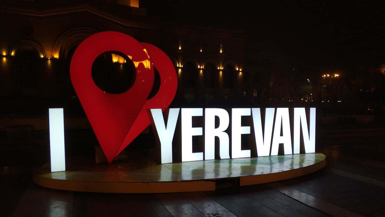 I love Yerevan sign in Aremnia