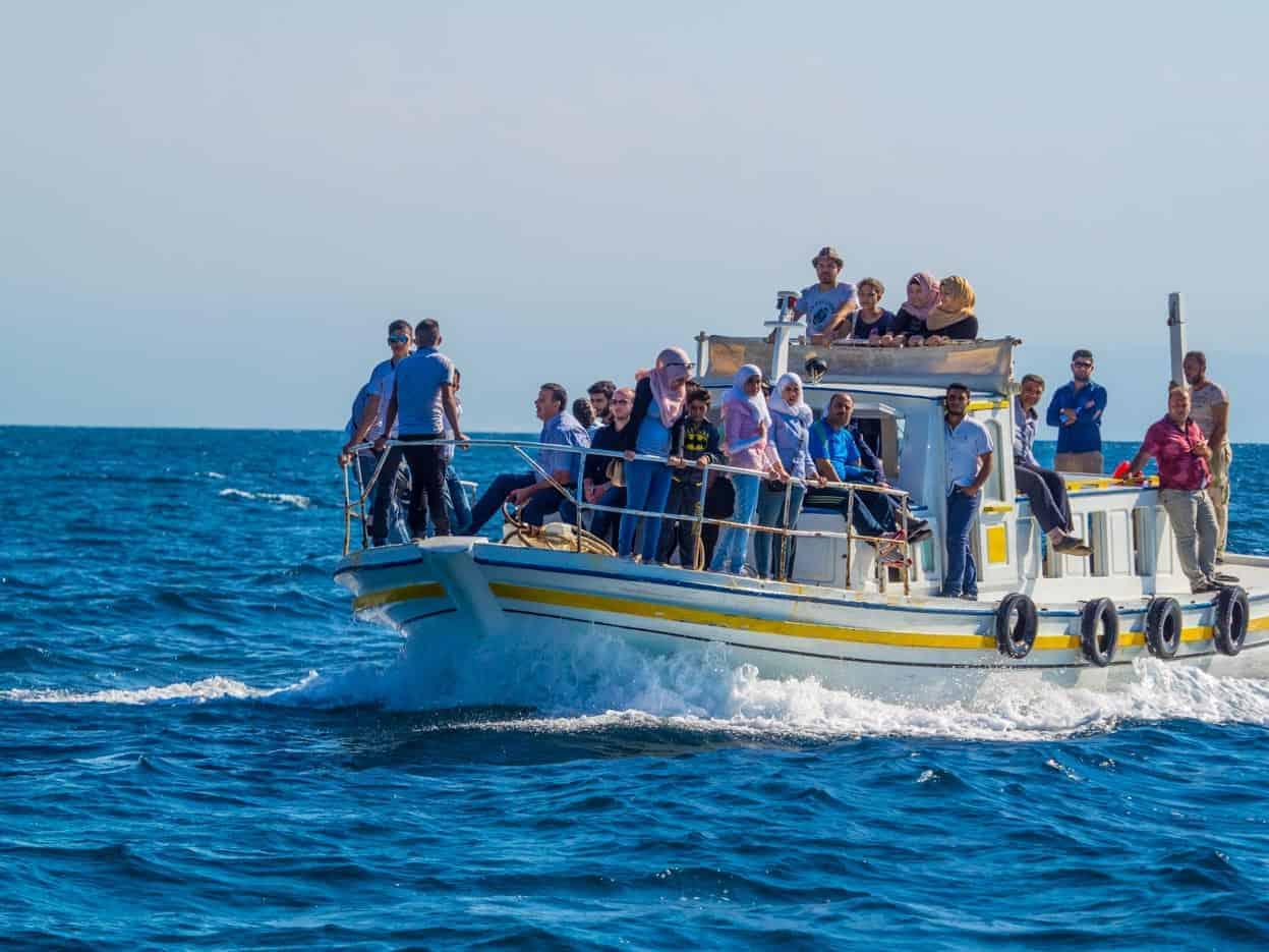 ferry to Arwad island in Syria