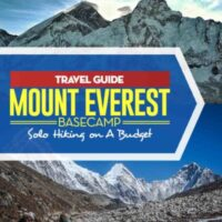Travel Tip about how to hike to Mount Everest Basecamp in Nepal on a budget. #nepal #hiking #mountain #travel #travelblogger #travelblog #traveltips