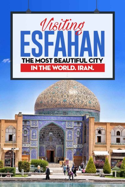 It's not popular, but Esfahan is a beautiful city. Located in Iran, Esfahan is the unknown pearl of the Middle East and the most beautiful city in the world.
