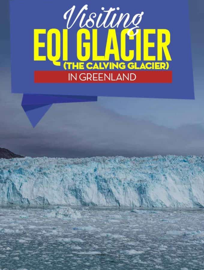 Just north of Ilulissat on the west coast of Greenland and the world famous ice fjord is Eqi Glacier, a wall of ice that´s up to 200meters/656feet high and 4km/2,4miles wide and one of the biggest and most active glaciers in all of Greenland.