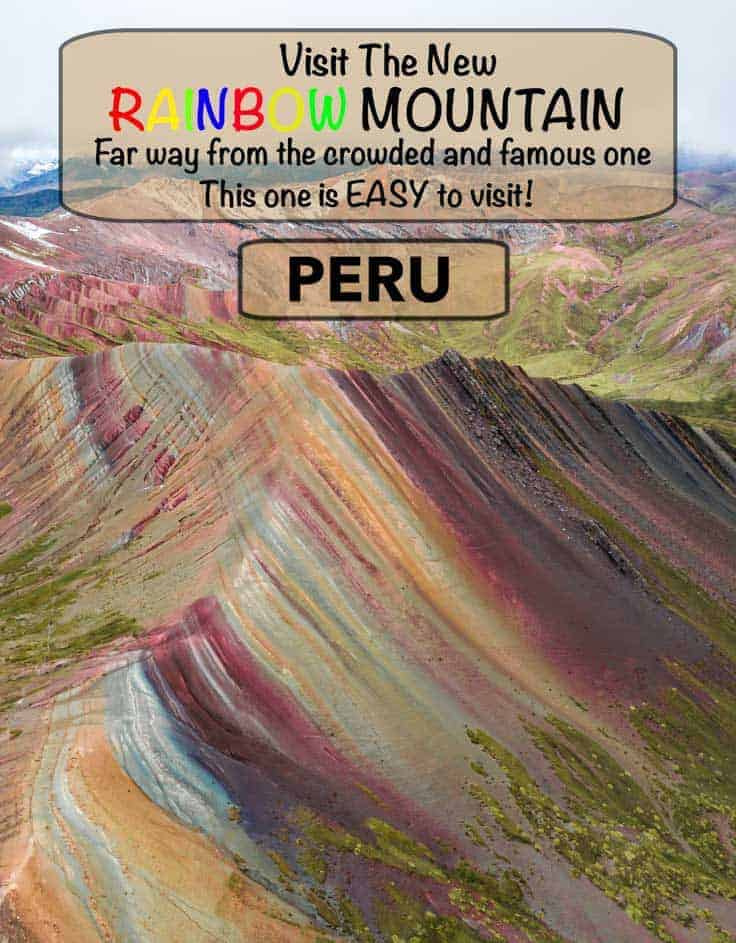 Guide to the new and alternative rainbow mountain in Peru, a easy day trip from the world heritage city of Cusco