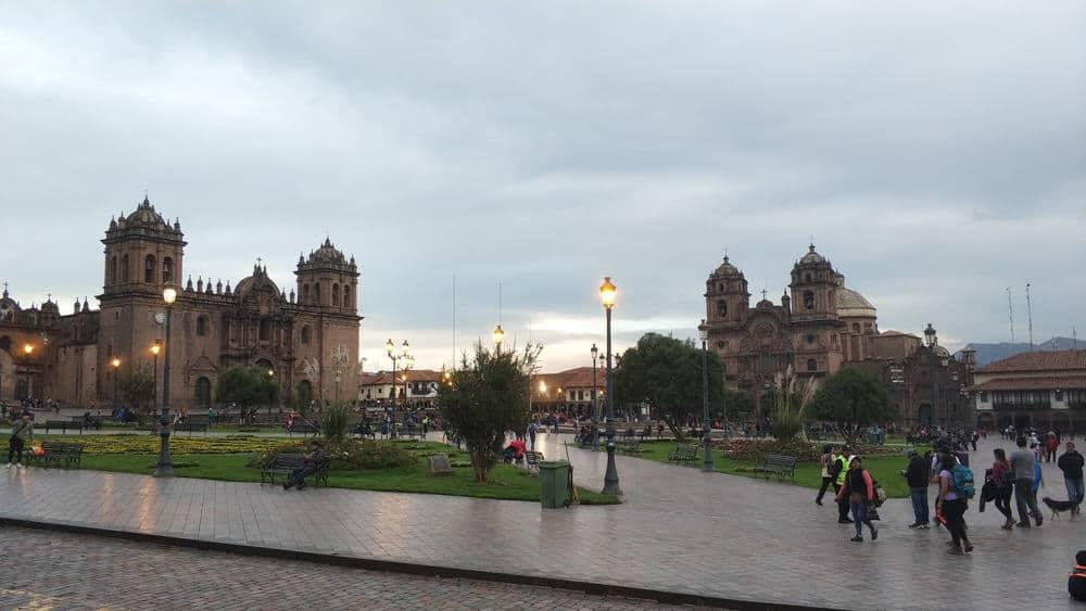 Cusco city square in peRU