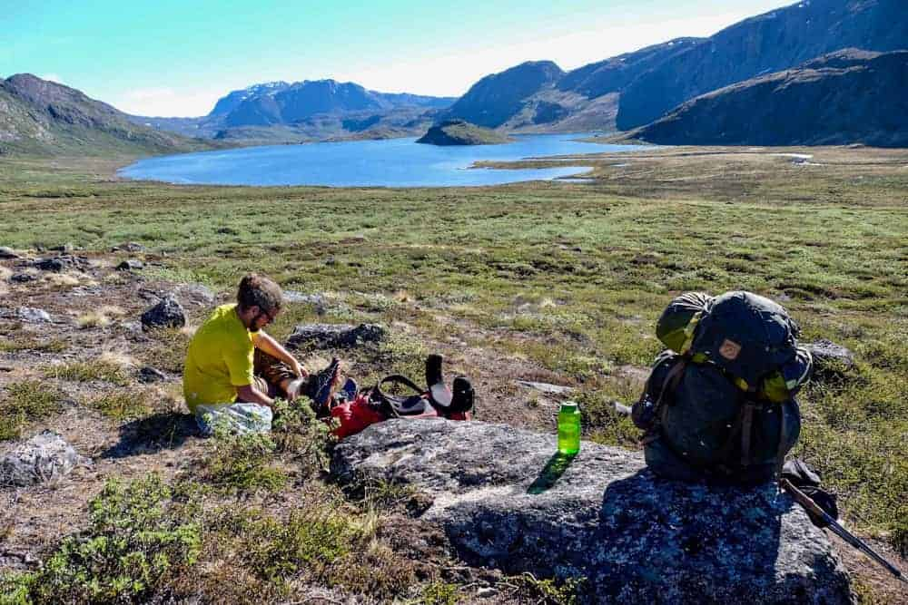 relaxing at the arctic circle trail