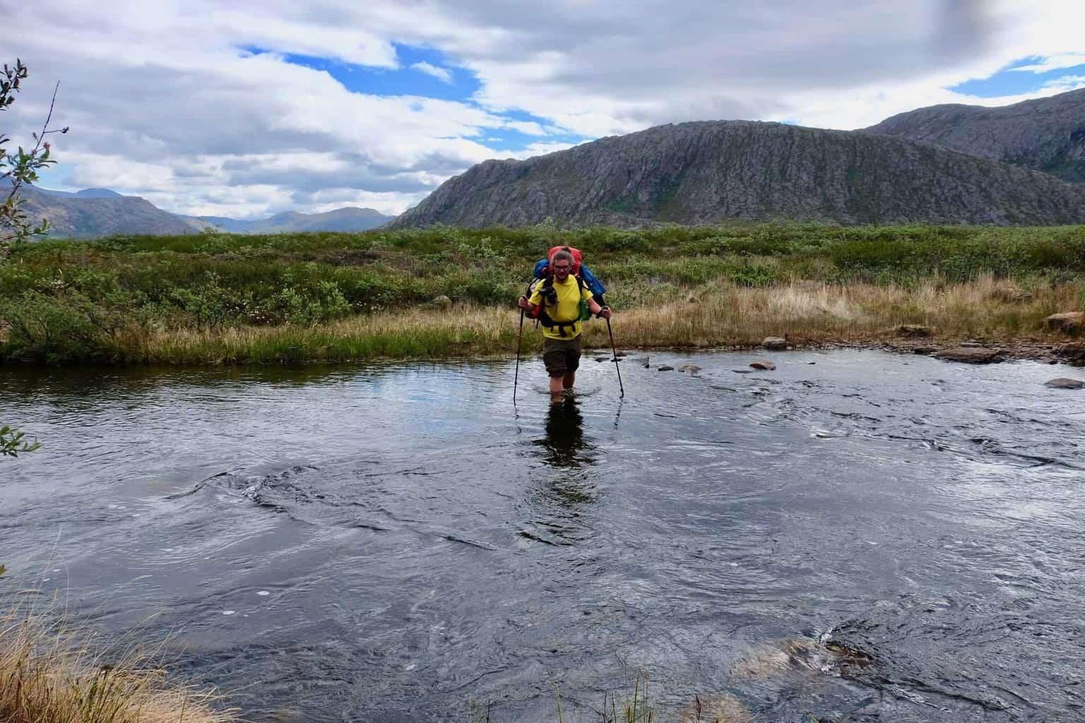 Arctic Circle Trail greenland river crossing