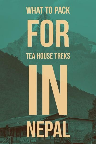 Packing guide for Tea House Treks in Nepal