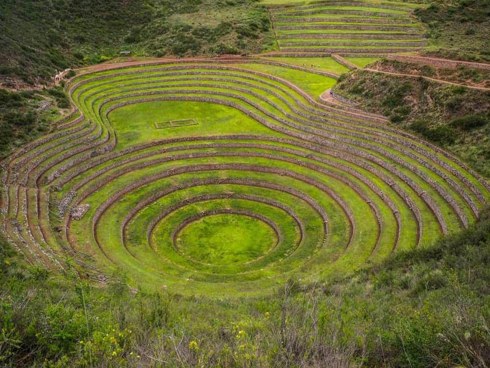 Moraya archaeological site in Peru close to Cusco