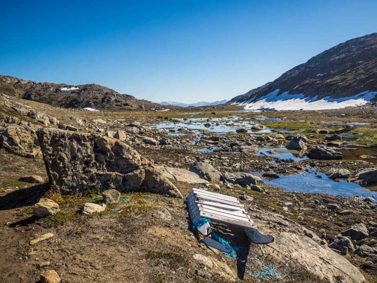 Arctic circle tral landmark