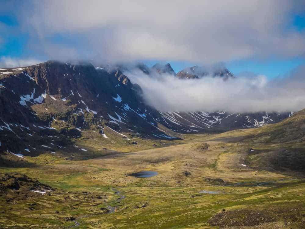 Nasaasaaq valley arctic circle trail greenland