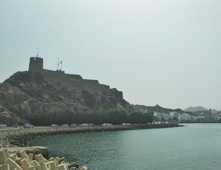 Muscat fort in the capital of Oman