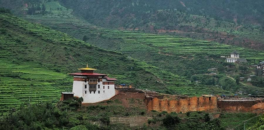 Wangdue Phodrang Dzong in Bhutan