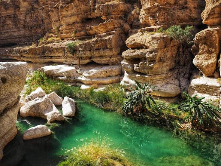 On the way to Wadi Shab in Oman
