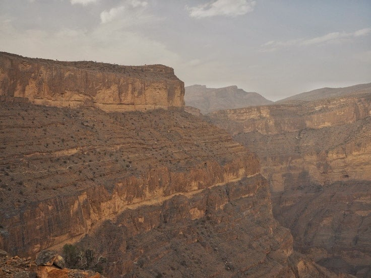 Jebel Shams mountains