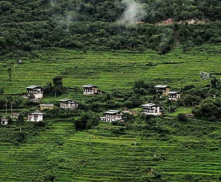 Small local village in Bhutan