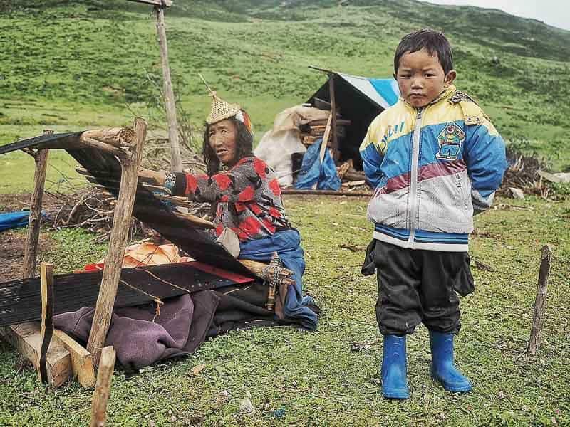 Laya village in Bhutan