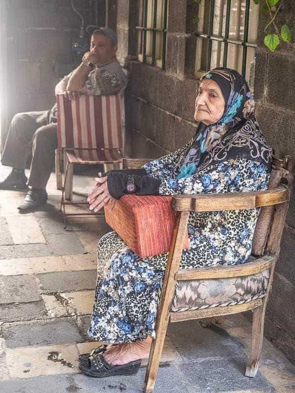 old woman in Damascus Syria