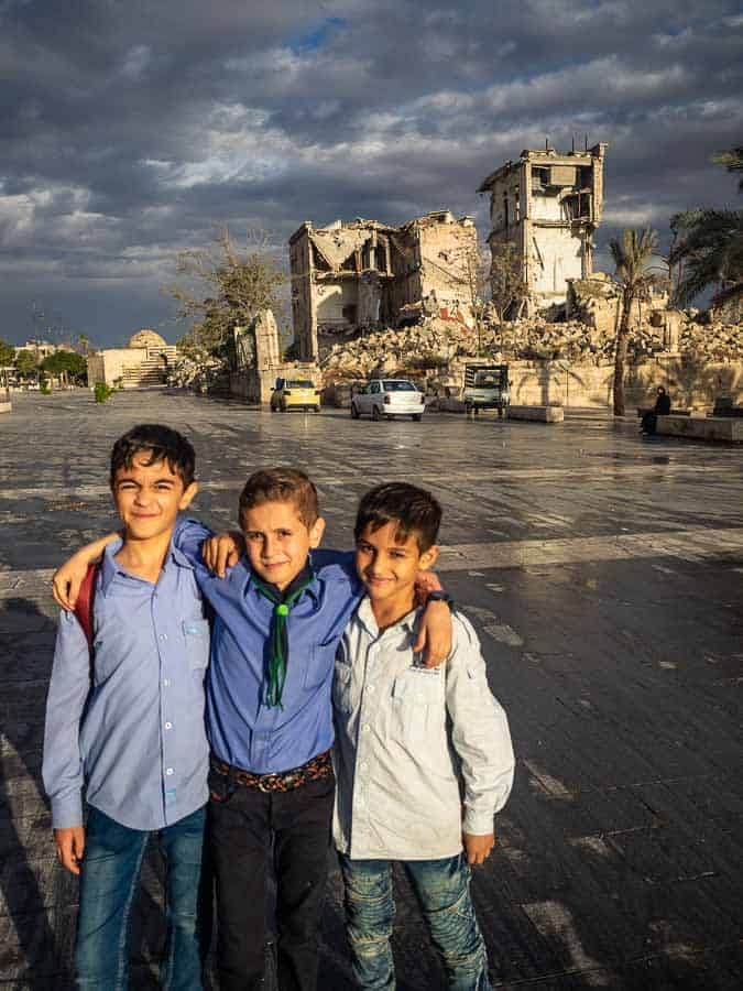 Young Kids in Aleppo Syria