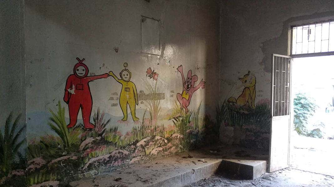 local school in Syria, basment terrorist base