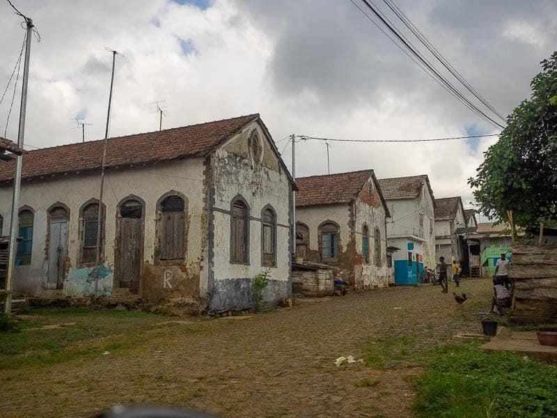 Água Izé village sao tome