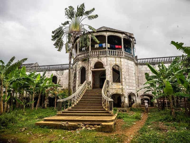 """The """"famous"""" old Hospital in Roca Agua Ize sao tome"""
