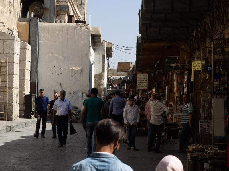 The tourist market in Damascus the capital of Syria