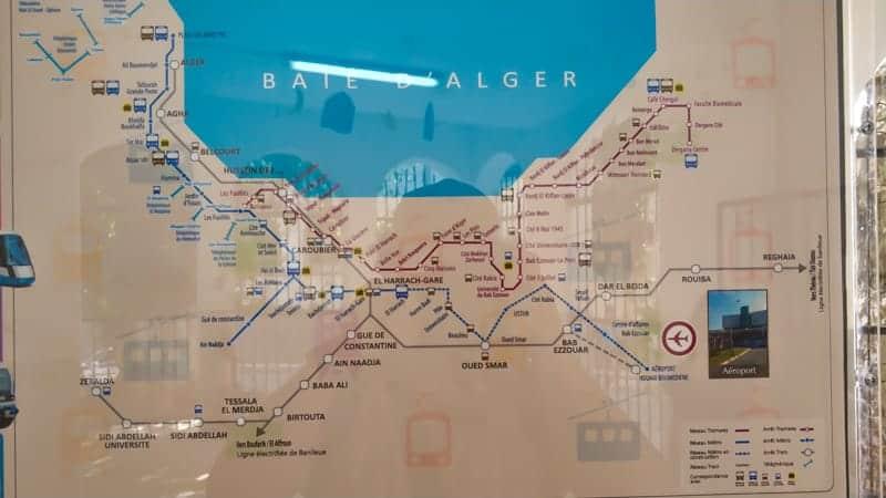 Algiers public transportation map