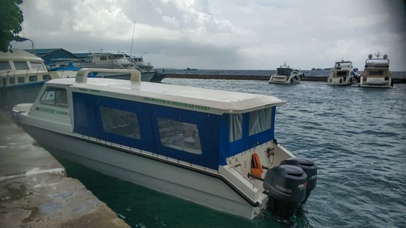 the boat from Male to Dhigurah