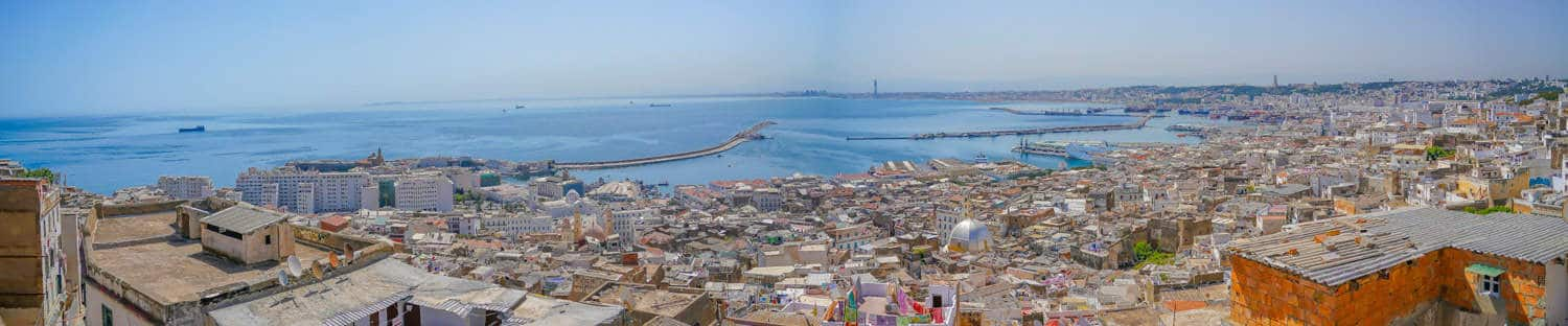 Panoramic view over Algiers the capital of algeria