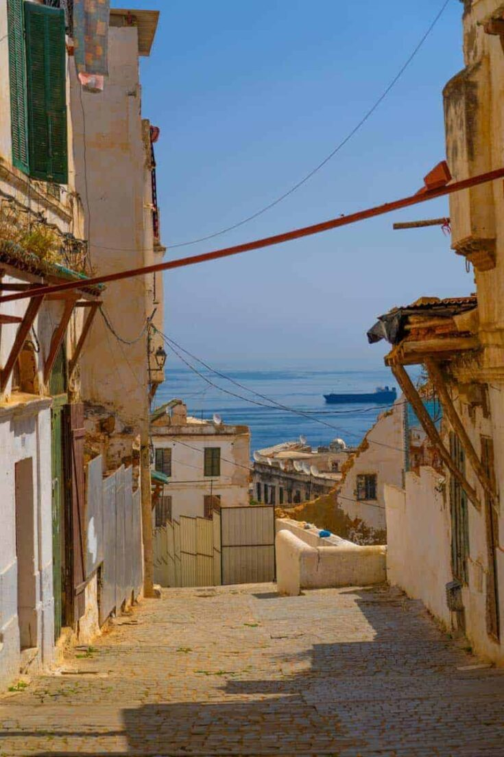 Ocean view from the Casbah Algeria