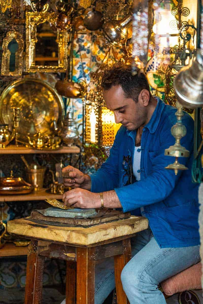 Traditional handicraft in the Casbah in Algeria
