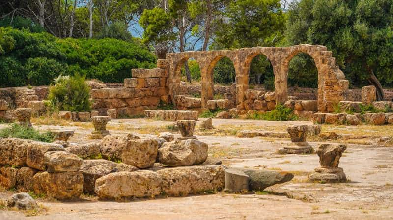 tipasa,algeria,roman ruins.