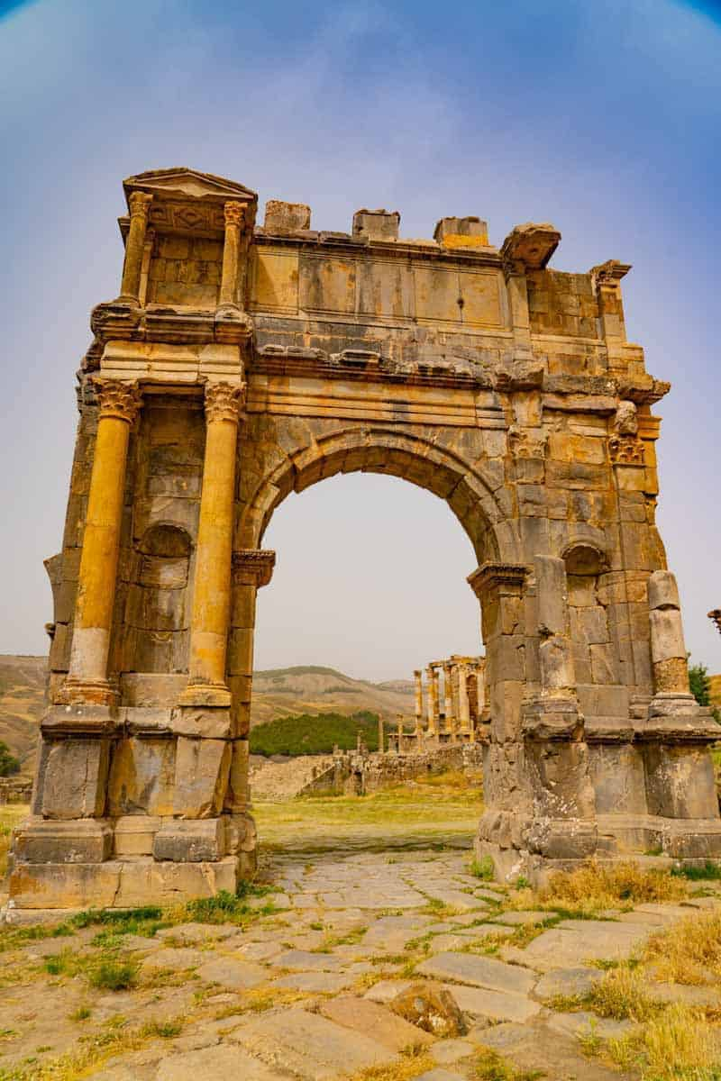 Djeimla Roman Ruins, one of the seven UNESCO world heritage sites in Algeria.