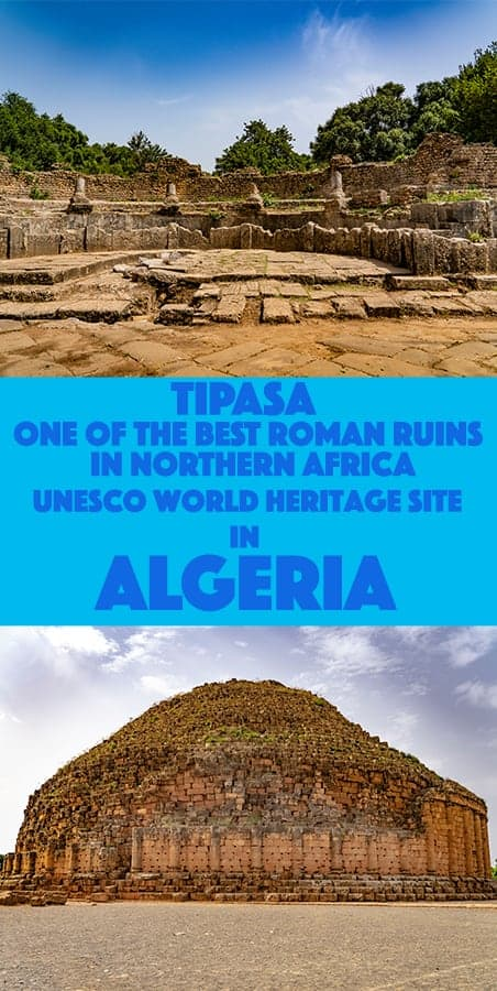 Guide to Tipasa Roman Ruins, A UNESCO World Heritage Site in Algeria, Northern Africa.
